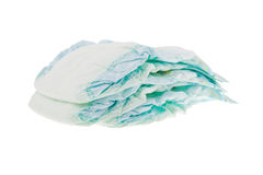 Three baby's diapers. Stock Photography