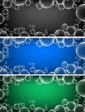 Three background designs with bubbles Royalty Free Stock Photo