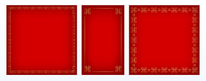 Three backgrounds chinese style Royalty Free Stock Image