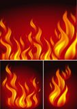 Three backgrounds with fire. Illustration Stock Images