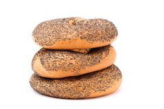 Three bagels Stock Images