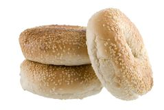 Three Bagels Royalty Free Stock Photos