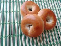 Three Bagels Stock Image