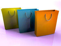Three bags Royalty Free Stock Photo