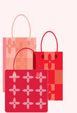Three bags. Vector image of three bags Stock Images