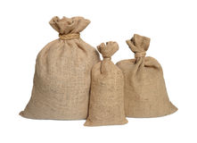 Three bags from a sacking Royalty Free Stock Photo