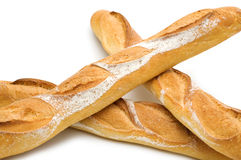 Three baguette Stock Photo