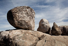 Three balanced boulders Royalty Free Stock Images