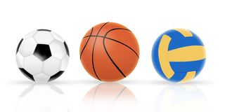 Three ball. Sports concept,3d&computer generated Stock Images