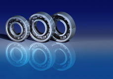 Three ball bearings Stock Photo