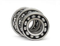 Three ball bearings. On white Stock Photos