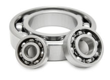 Three ball bearings Stock Photos