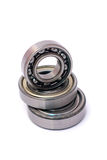 Three ball bearings over and over isolated Stock Photo