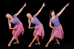 Three Ballerinas Royalty Free Stock Photography