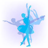 Three ballerinas dance Swan lake Stock Photos