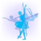 Three ballerinas dance Swan lake Stock Photos