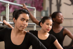 Three Ballet Students Royalty Free Stock Photos