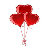 Three balloon hearts Royalty Free Stock Photo