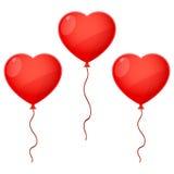 Three Balloon Hearts Royalty Free Stock Image