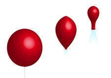 Three balloons Royalty Free Stock Photos