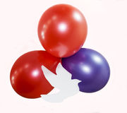 Three balloons Stock Photos