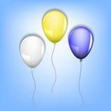 Three balloons Royalty Free Stock Image