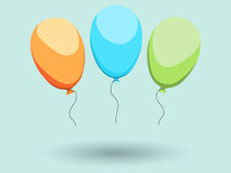 Three balloons Royalty Free Stock Photo