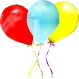 Three balloons Stock Photography