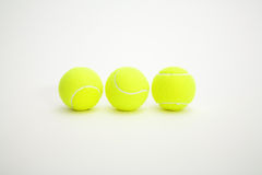 Three balls. Of tennis on white background Stock Photo