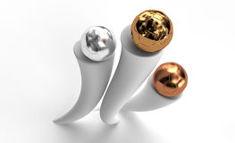 Three balls for awards Royalty Free Stock Images