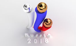 Three balls for awards. On pedestal in Russian Federation Royalty Free Stock Photography