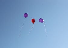 Three balls in the blue sky Stock Photo