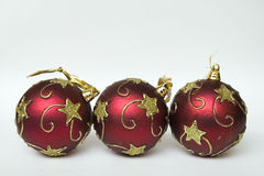 Three balls decorative Christmas Royalty Free Stock Photo