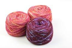 Three Balls of Merino Wool Yarn Royalty Free Stock Image