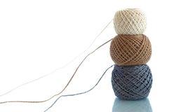 Three balls of rope Stock Photo