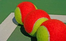 Three balls in a row Royalty Free Stock Photo
