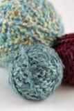 Three balls of yarn Royalty Free Stock Photos