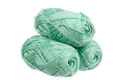 Three balls of yarn Stock Images