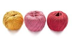 Three balls of yarn Stock Photography