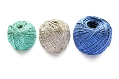 Three balls of yarn Royalty Free Stock Images