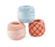 Three balls of yarn Royalty Free Stock Photos