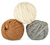 Three balls of yarn on white background Royalty Free Stock Photos