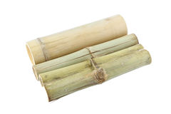 Three bamboo tube for rice steam Royalty Free Stock Images