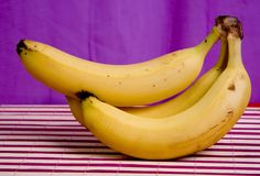 Three banana Royalty Free Stock Photography