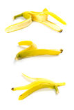 Three banana peels royalty free stock photography