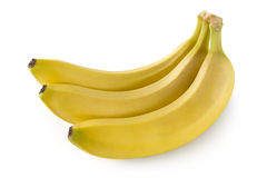 Three Bananas Stock Images