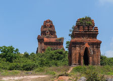 Three Banh It Cham towers on the hill. Royalty Free Stock Images