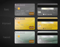 Three bank cards Royalty Free Stock Photography