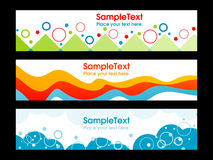 THREE BANNER BACKGROUND Royalty Free Stock Photo