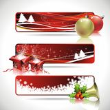 Three  banner design on a Christmas theme.. Royalty Free Stock Photos